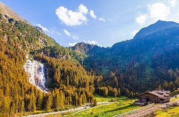 Grawa Wasserfall im Stubaital in Tirol von Werner Dieterich