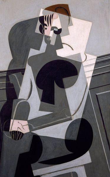 Juan Gris. Portrait de Madame Josette Gris von 1000 Schilderijen