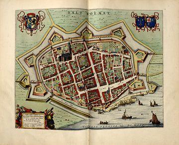 Zaltbommel, Stadsplattegrond Joan Blaeu 1652 van Atelier Liesjes