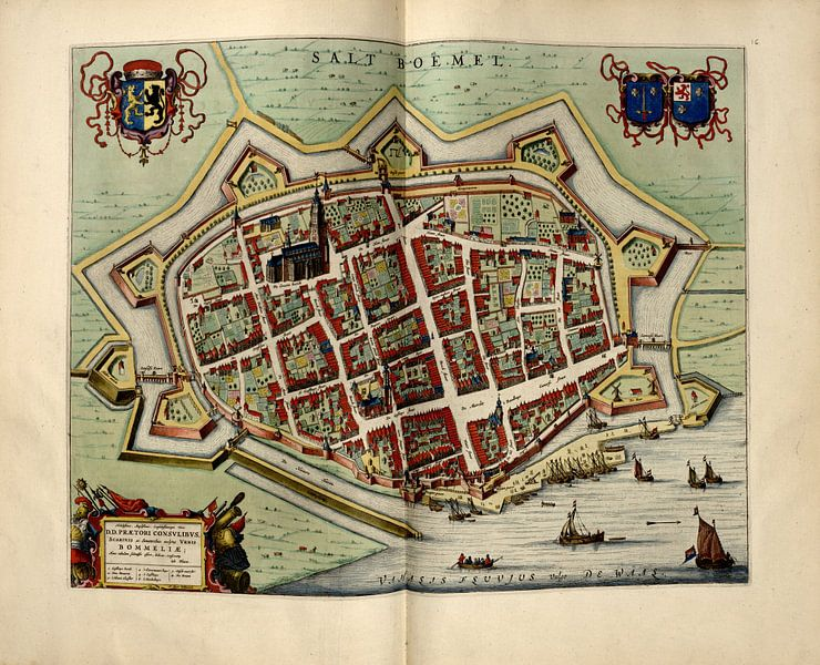Saltbommel, Stadtplan Joan Blaeu 1652 von Atelier Liesjes