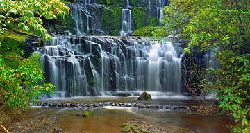 Purakaunui Falls, Catlins, South Island, New Zealand van