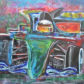 Raceauto F1 van Kunstenares Mir Mirthe Kolkman van der Klip