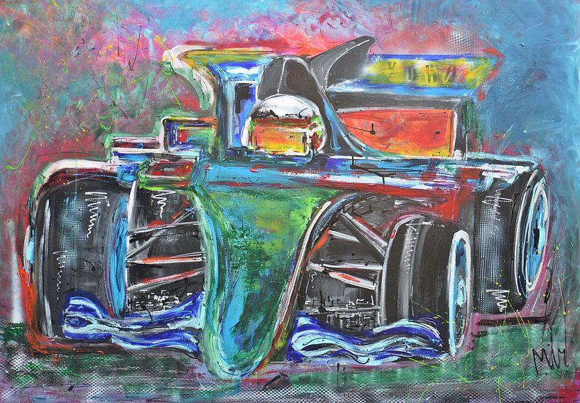 Rennwagen F1 von Kunstenares Mir Mirthe Kolkman van der Klip