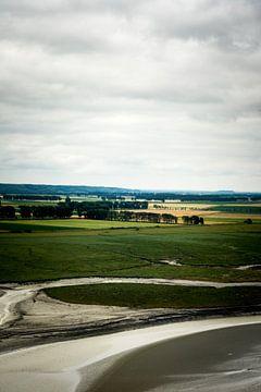 Een uitzicht van op Mont Saint-Michel van