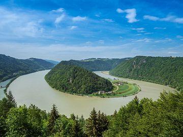 Uitzicht op de Schlögner Schlinge in Opper-Oostenrijk van Animaflora PicsStock