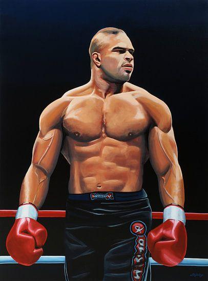 Alistair Overeem schilderij