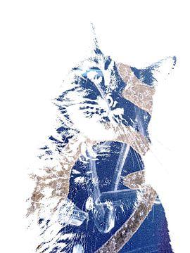 Kattenkunst - Diva 6 van MoArt (Maurice Heuts)