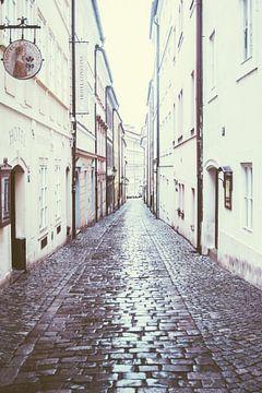 Straat in Praag van Patrycja Polechonska