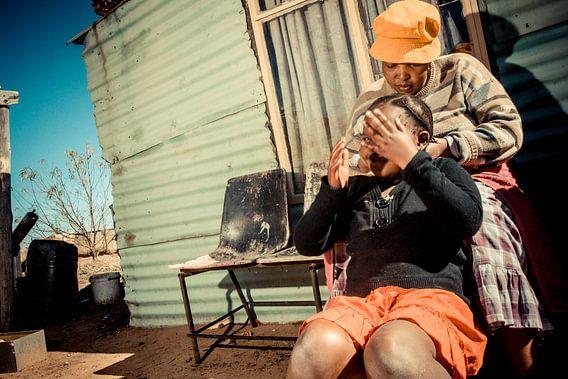 Vlechtjes in het haar van Urban South Africa