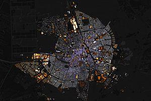 Kart van Hilversum abstract van