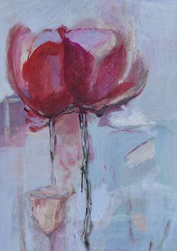 Tulpen abstract van Mieke Daenen