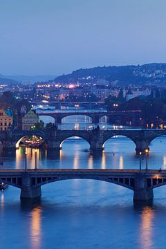 Vltavabruggen met Karelsbrug, Praag, van Markus Lange
