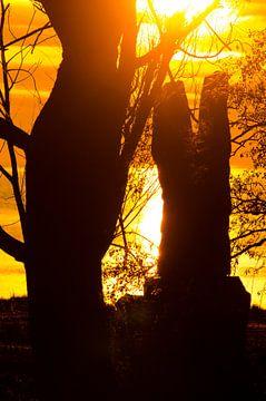 Sunset / Zonsondergang van Erik van Riessen