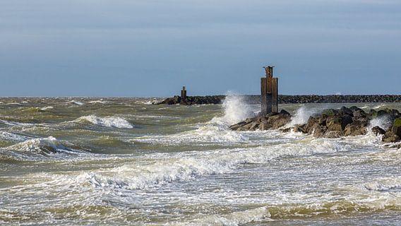 Storm aan de kust, op 2e paasdag