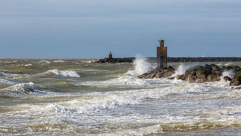 Storm aan de kust, op 2e paasdag  von Bram van Broekhoven
