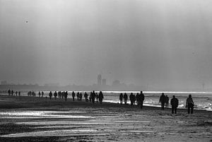 Strandwandeling bij Katwijk van