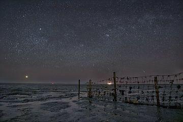 Sternenhimmel über dem friesischen Wattenmeer von Remco de Vries