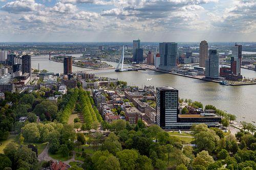 De Erasmusbrug Rotterdam van