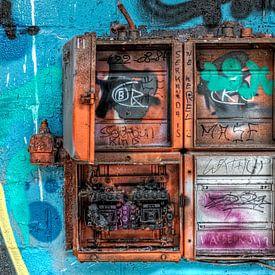 "Graffiti ""kijk omhoog"" van Christophe Fruyt"