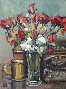 Rode rozen en Reminton 12 van