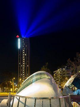 Het Student Hotel Eindhoven - GLOW 2020 van Noud de Greef