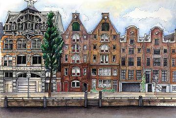 Stadt-Serie 01 - Amsterdam A von Yeon Yellow-Duck Choi