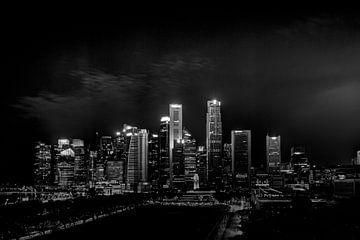 Singapore skyline met sterren van Rens Roosloot