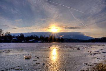Spiegelung im Eis - Staffelsee von Roith Fotografie