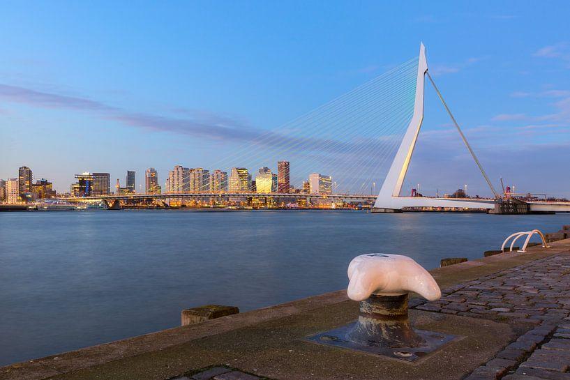 Erasmusbrug van de Wilhelminapier van Prachtig Rotterdam