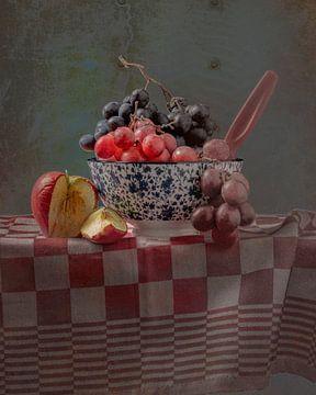 Stilleven 'Druiven in kom' van Willy Sengers