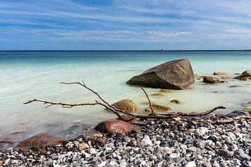Baltic Sea coast on the island Rügen van