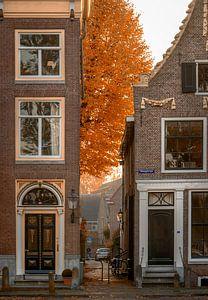 Hoogstraat Weesp in de herfst van