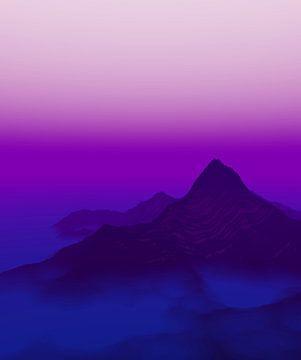 Avond in de bergen van Angel Estevez