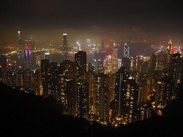 The Peak Hong Kong skyline van Sanne Bakker