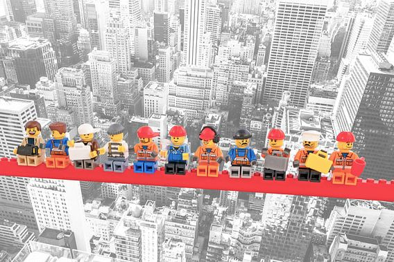 Lunch atop a skyscraper Lego edition - New York