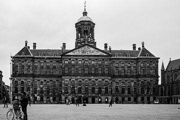 Königlicher Palast Amsterdam (schwarz und weiß) von By Odessa DC