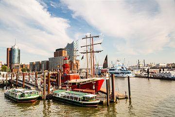 Hamburgse stadshaven van Ursula Reins
