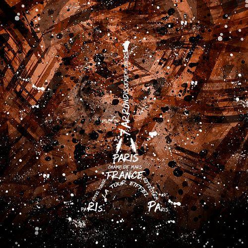 Digital Art Eiffel Tower | brown