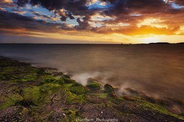 Späte Sonnenuntergänge in Ritthem von Peter Flos