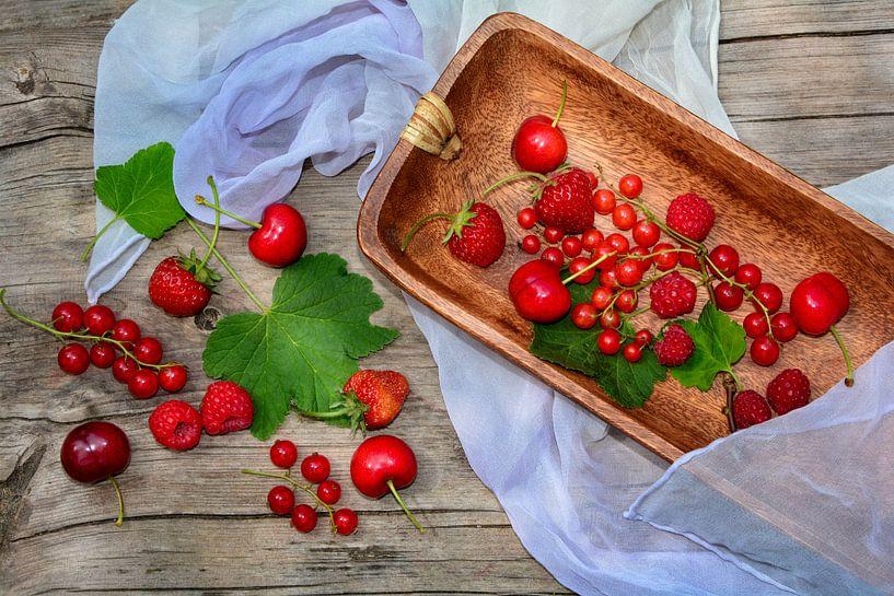 Vers fruit in rood van Claudia Evans