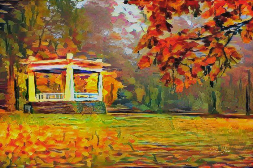 Herbst in Noorderplantsoen Groningen von Slimme Kunst.nl
