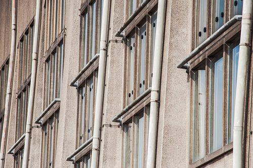 Architectuur hoofdgebouw van Radio Kootwijk