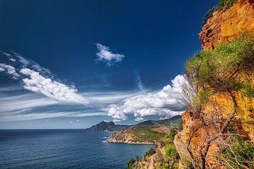 Westküste der Insel Korsika im Mittelmeer von Voss Fine Art Photography