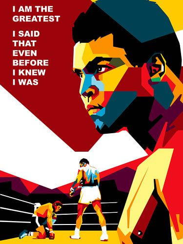 Pop Art Muhammad Ali van