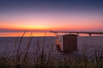 Ochtendstilte op het strand van Scharbeutz van Voss Fine Art Fotografie