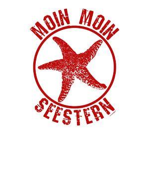 Noordzee zeesterren Moin Moin Moin Moin van PA Designs
