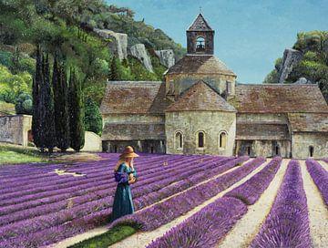 Lavendelpflücker von Trevor Neal