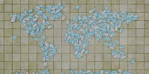 Wereldkaart mondkapjes