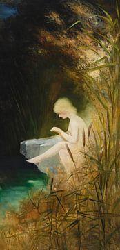 Ein Mädchen an der Küste, Karl Wilhelm Diefenbach