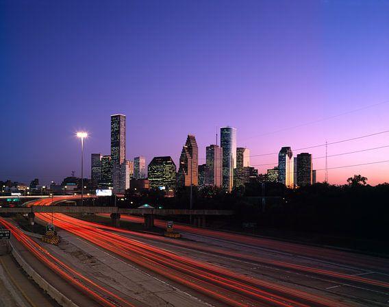 Skyline van Houston in de ochtend - 1980s